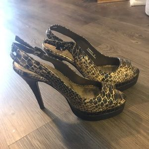 Shoes - Anne Michelle brown heels 6.5